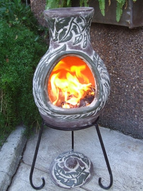 Four Elements Clay Chiminea Earth Small