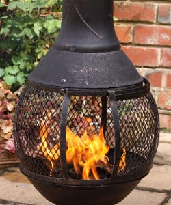 Opera Open Bowl Cast Iron Chiminea (Medium)