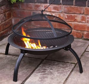 Lucio Cast Iron Folding Firebowl