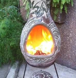 Four Elements Clay Chiminea Earth (Large)