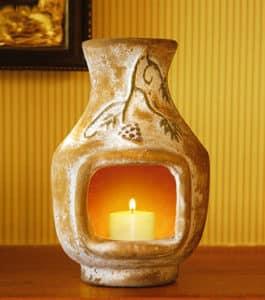 Grapes Vanilla-Scented Mini Chiminea Candle