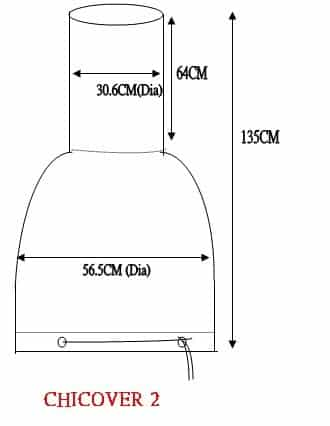 Large Chiminea Cover Dimensions