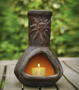 Sol Vanilla-Scented Mini Chiminea Candle