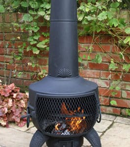Tia Steel Chiminea, Black
