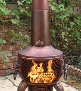 Tia Steel Chiminea, Bronze