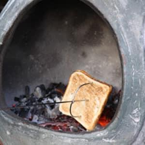 Steel Toasting Fork
