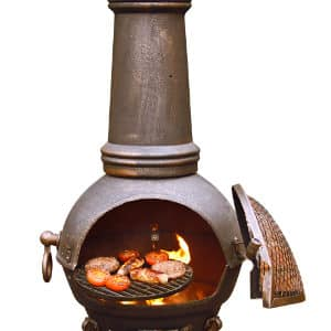 Toledo Cast Iron Chiminea Extra Large Bronze