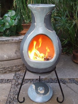 Four Elements Clay Chiminea Water Medium