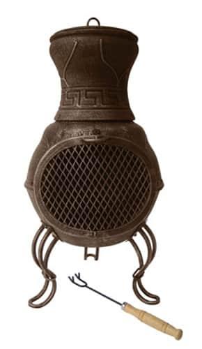 Billie Cast Iron Chiminea, Bronze