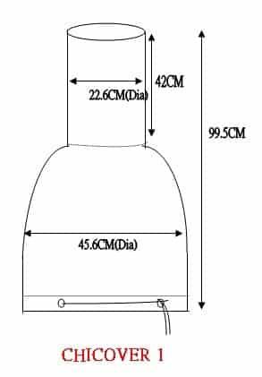Insulated Medium Chiminea Cover Dimensions