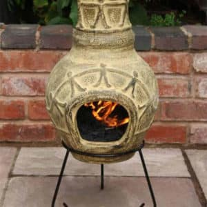 Amigos Clay Chiminea (Small)-0