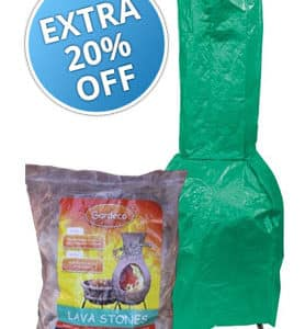 Large Clay Chiminea Essentials Accessory Bundle