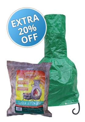 Medium Clay Chiminea Essentials Bundle