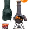 Toledo Cast Iron Chiminea Essentials Bundle