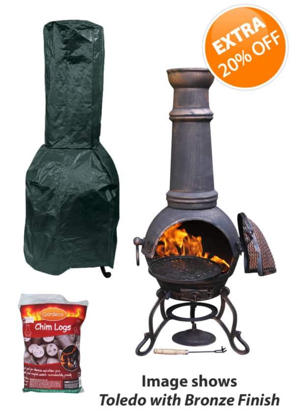 Toledo Cast Iron Chiminea Essentials Bundle