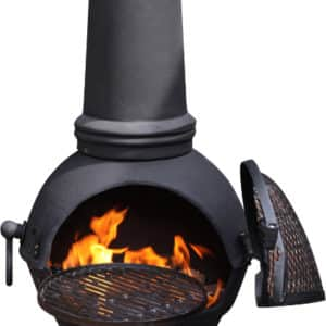Toledo Cast Iron Chiminea Extra Large, Black