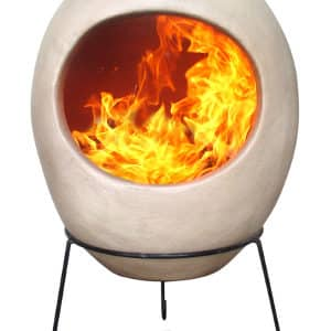 Ellipse Mexican Chiminea Beige