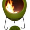 Ellipse Mexican Chiminea Spring Green
