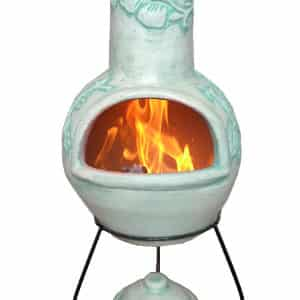 Rosas Mexican Chiminea - Pastel Duck Egg (Large)
