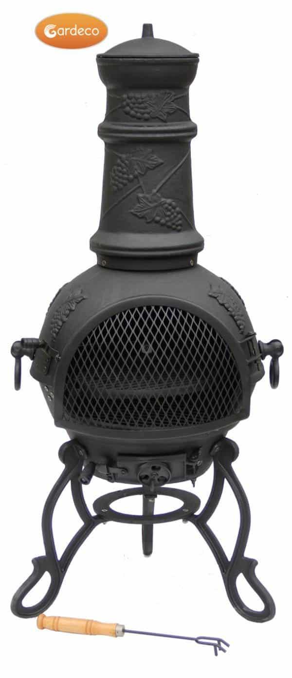 Toledo Cast Iron Chiminea Medium, Black