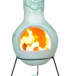 Rosas Mexican Chiminea - Pastel Duck Egg (Extra Large)