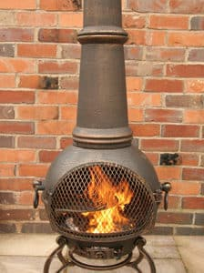 Toledo Cast Iron Chiminea Extra Large