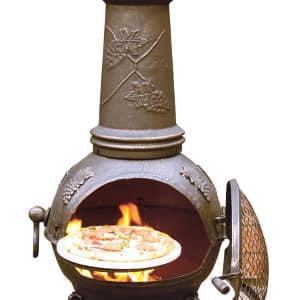 Toledo Cast Iron Chimenea (Extra Large), Bronze Grapes-0