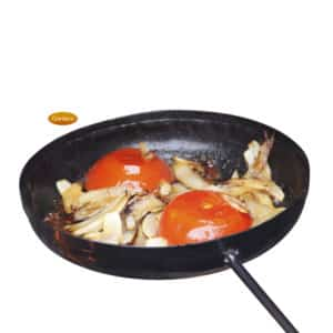 Teflon coated steel frying pan-0