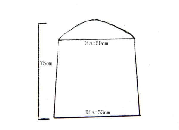 Insulated Ellipse Chiminea Cover Extra Large Dimensions
