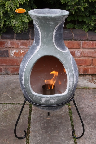 Small Bioethanol Chim Burner in chiminea