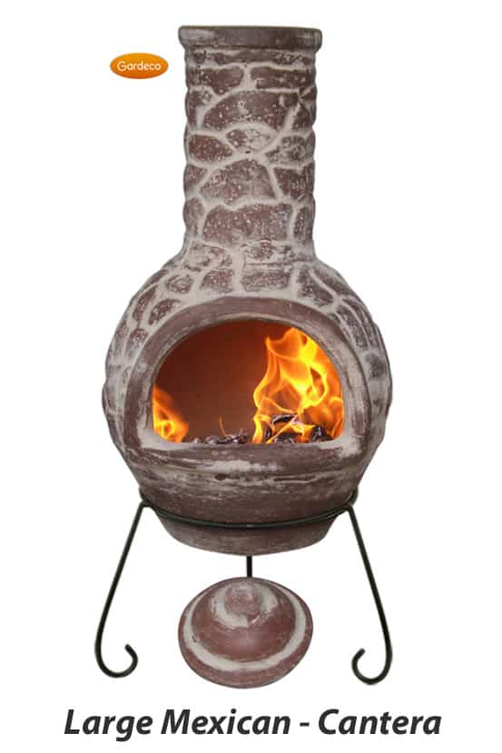 Large Mexican Chiminea - Cantera
