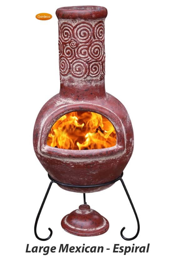 Large Mexican Chiminea - Espiral