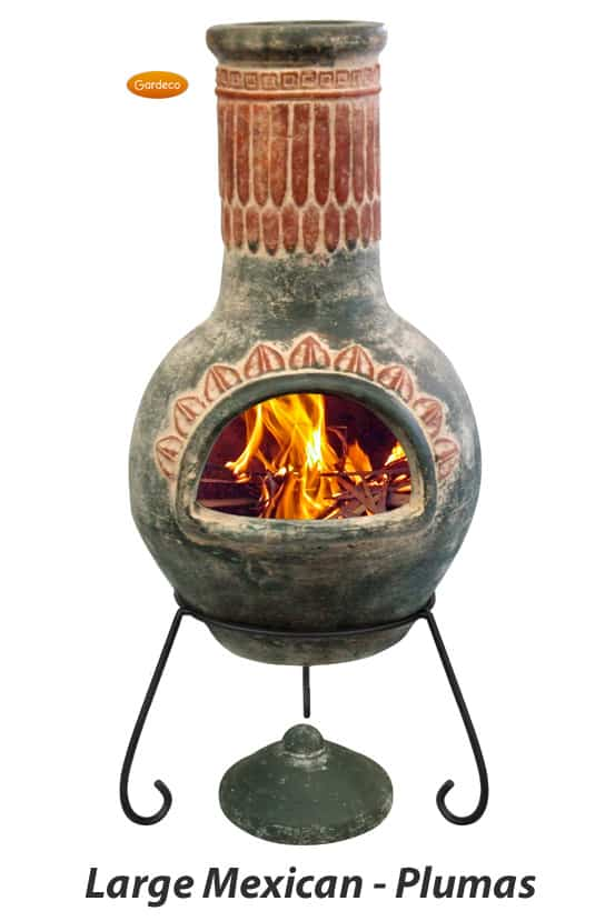 Large Mexican Chiminea - Plumas