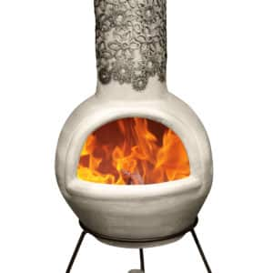 Flor Mexican Chiminea - Black & Beige (Large)