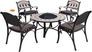 Constance Firebowl Table & Chair Set