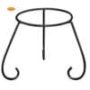 Steel stand for large clay chimineas