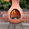 Four Elements Clay Chiminea Air with Glazed Bird of Paradise (Medium)-0