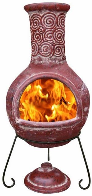 Espiral Mexican clay Chiminea (Extra-Large)