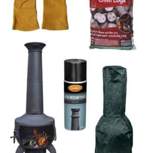 Tia Steel Chiminea - Premium Bundle
