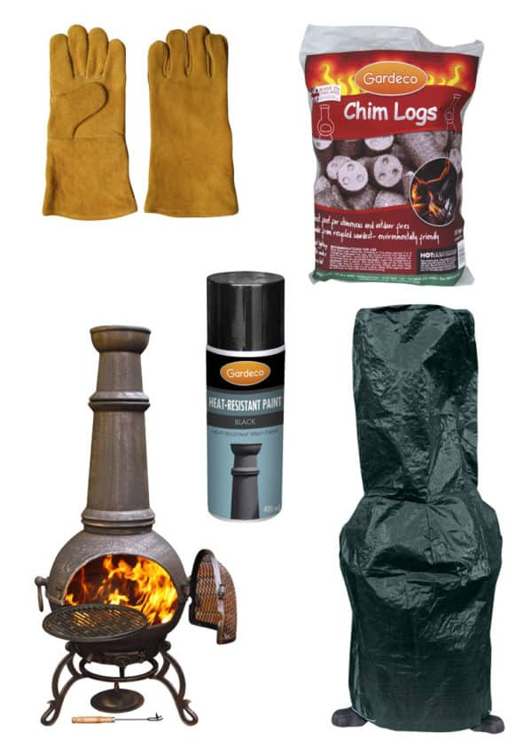 Toledo Cast Iron Chiminea (Jumbo) - Premium Bundle-0