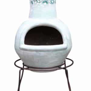 Double edged stand with chiminea