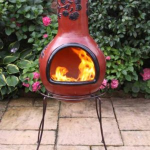 Double edged stand with XL chiminea