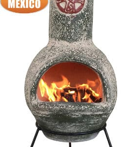 Cruz Mexican Chiminea in Green