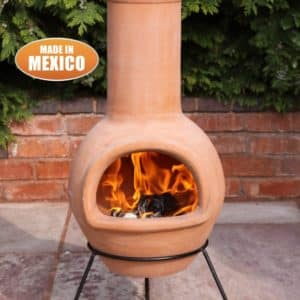 Colima Mexican Chiminea Natural Terracotta (Large)