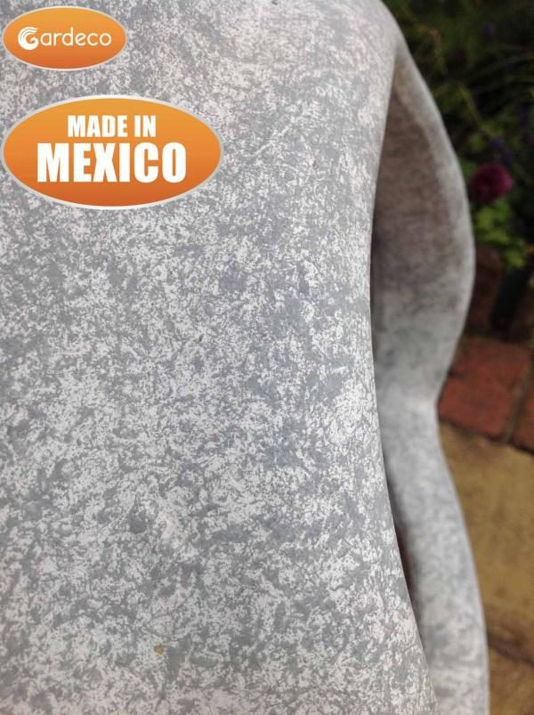 Ellipse Mexican Chiminea Mottled Grey - Close up