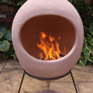 Ellipse Mexican Chiminea Dusty Rose