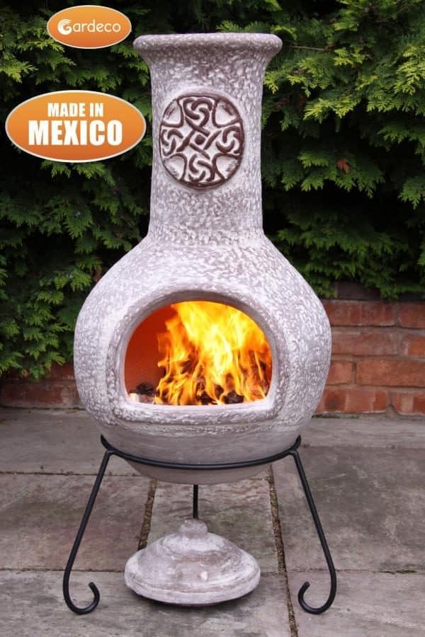 Cruz Mexican Chiminea brushed sandstone