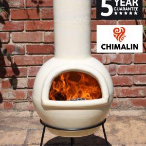 Sempra Chimalin AFC Chiminea - Glazed Ivory