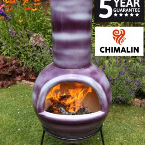 Sempra Chimalin AFC Chiminea - Mottled Purple