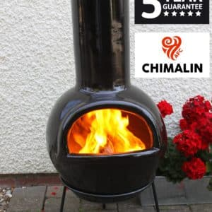 Sempra Chimalin AFC Chiminea - Glazed Black